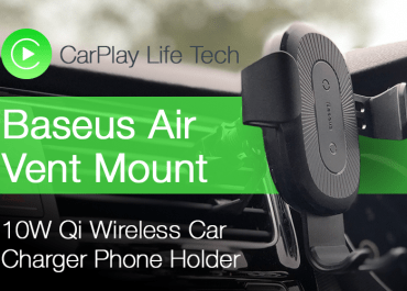Baseus 10W Qi Wireless Car Charger iPhone Holder Review