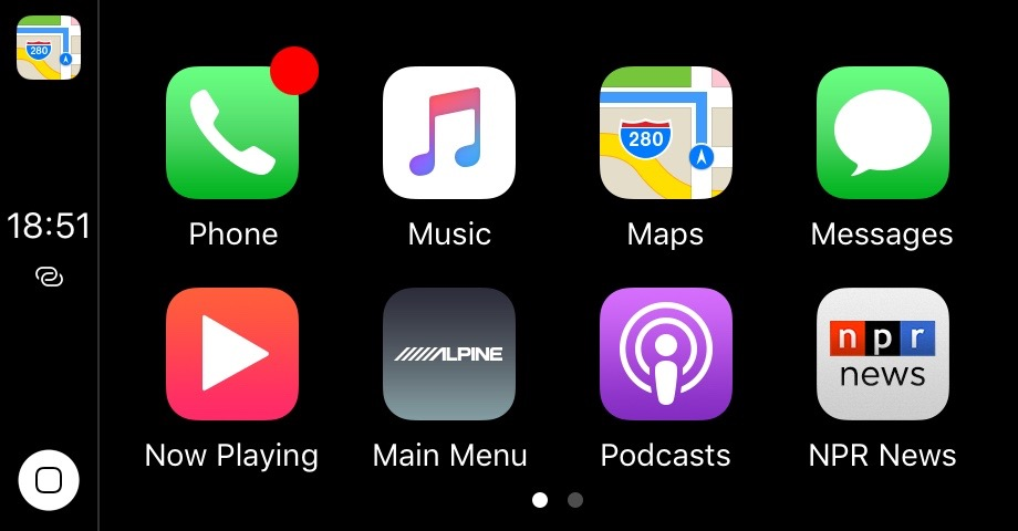 CarPlay - IOS10 - Default Homescreen