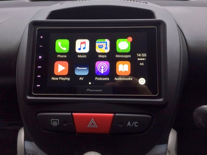CarPlay Peugot 107