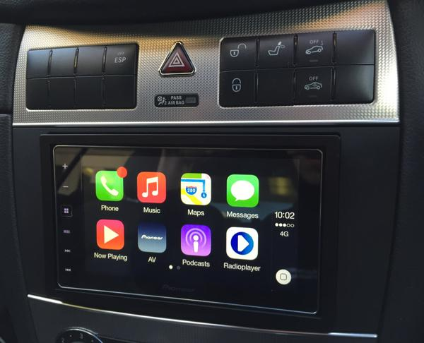 carplay installs pioneer sph da120 in a mercedes clk. Black Bedroom Furniture Sets. Home Design Ideas