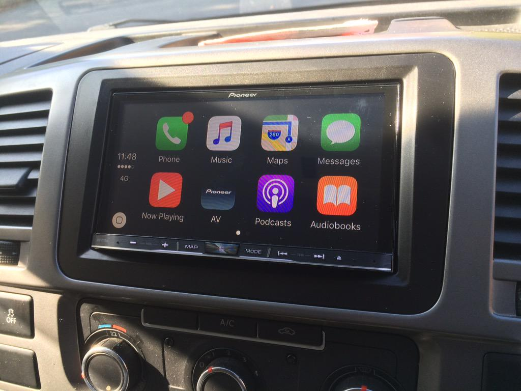 carplay installs pioneer avic f77dab in a volkswagen. Black Bedroom Furniture Sets. Home Design Ideas