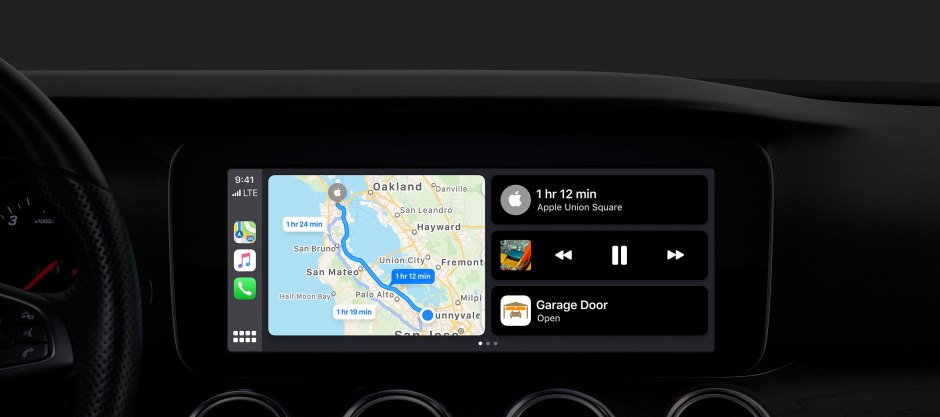New Apple CarPlay split-view dashboard and updated side dock