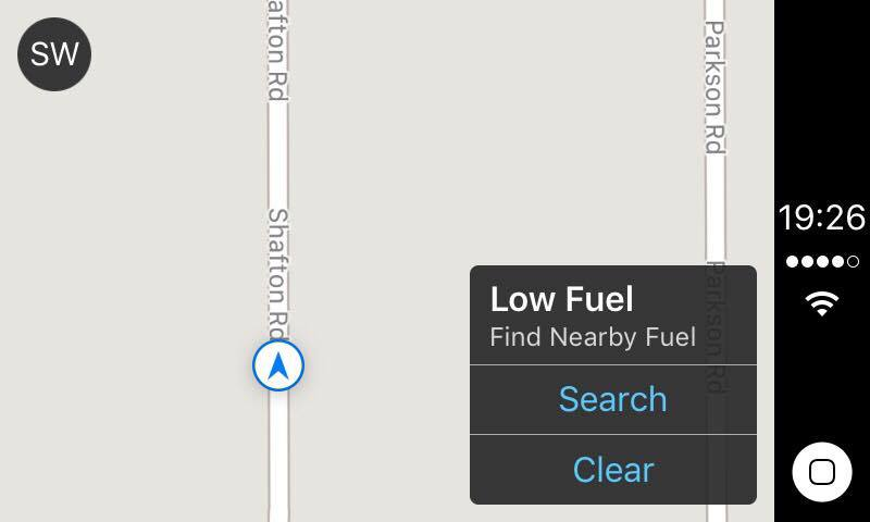 carplay low fuel capture