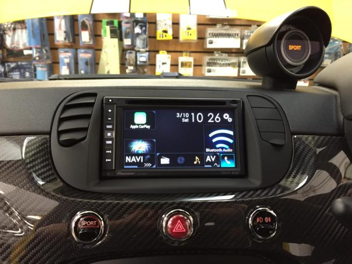 fiat 695 carplay install