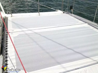 Fabricacion de Trampolines para catamaran 2