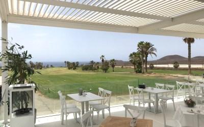 Pérgola Bioclimatica. Amarilla Golf. Tenerife.