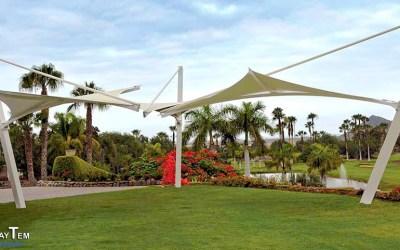 Velas-Tensado Paraboloides Hiperbólicas. Club de Golf Los Palos. Tenerife
