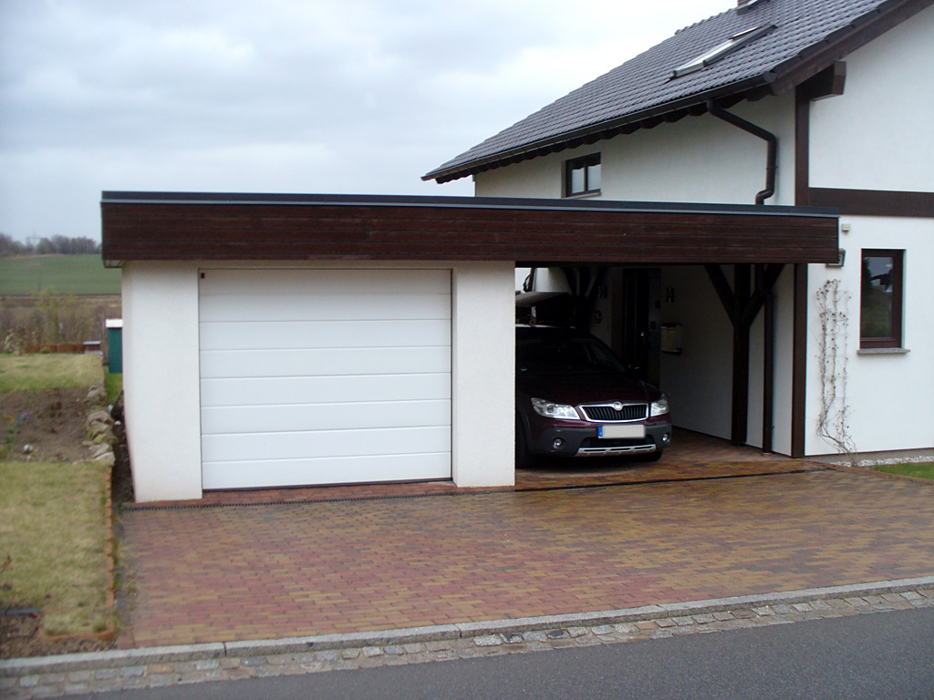Garage Carport Kombination