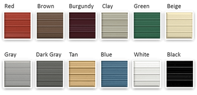 Order Color Samples Of Metal Carport Roof And Siding