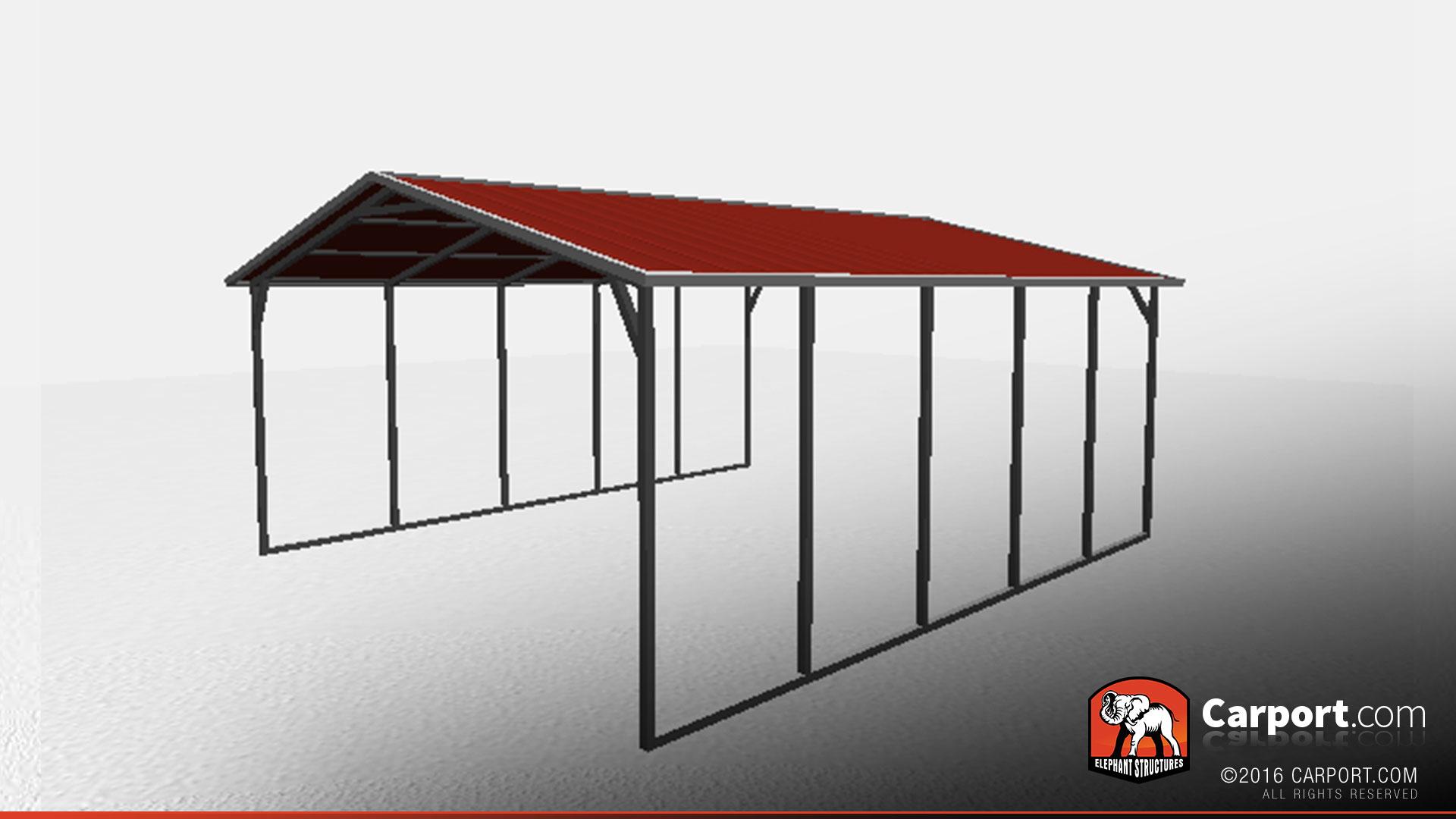 18 X 21 X 6 Sturdy Vertical Roof Metal Carport Metal Carports