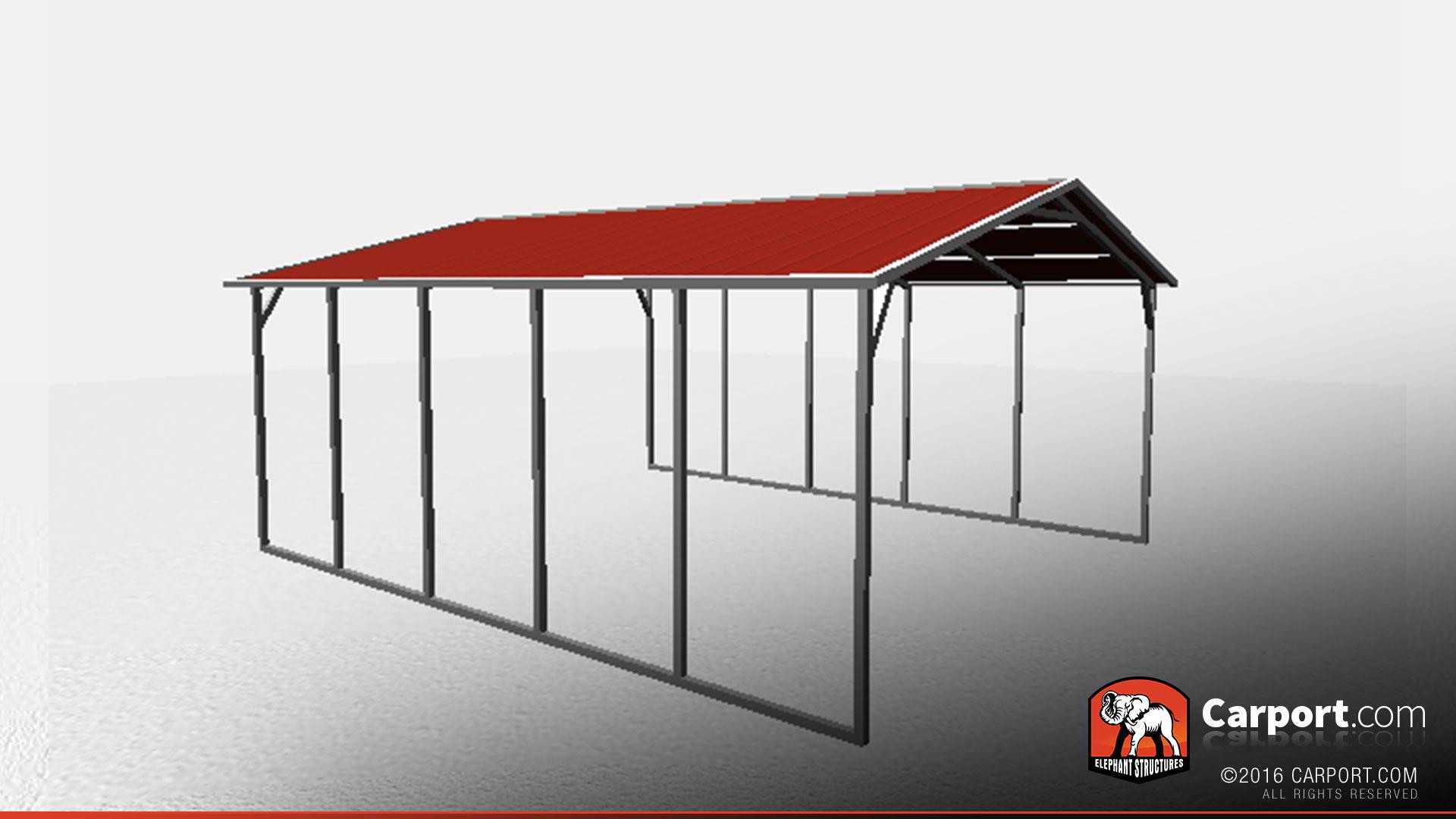 18 X 21 X 6 Sturdy Vertical Roof Metal Carport Metal