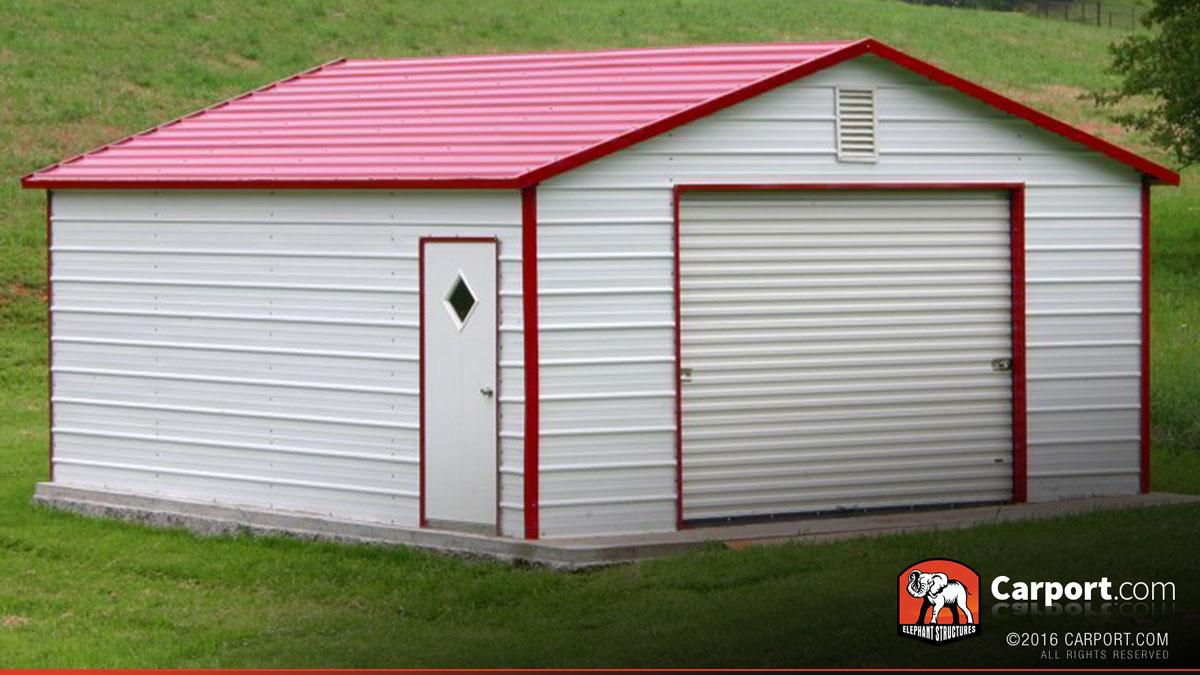 Metal Garage 12 X 21 Boxed Eave Roof Shop Metal Buildings Online