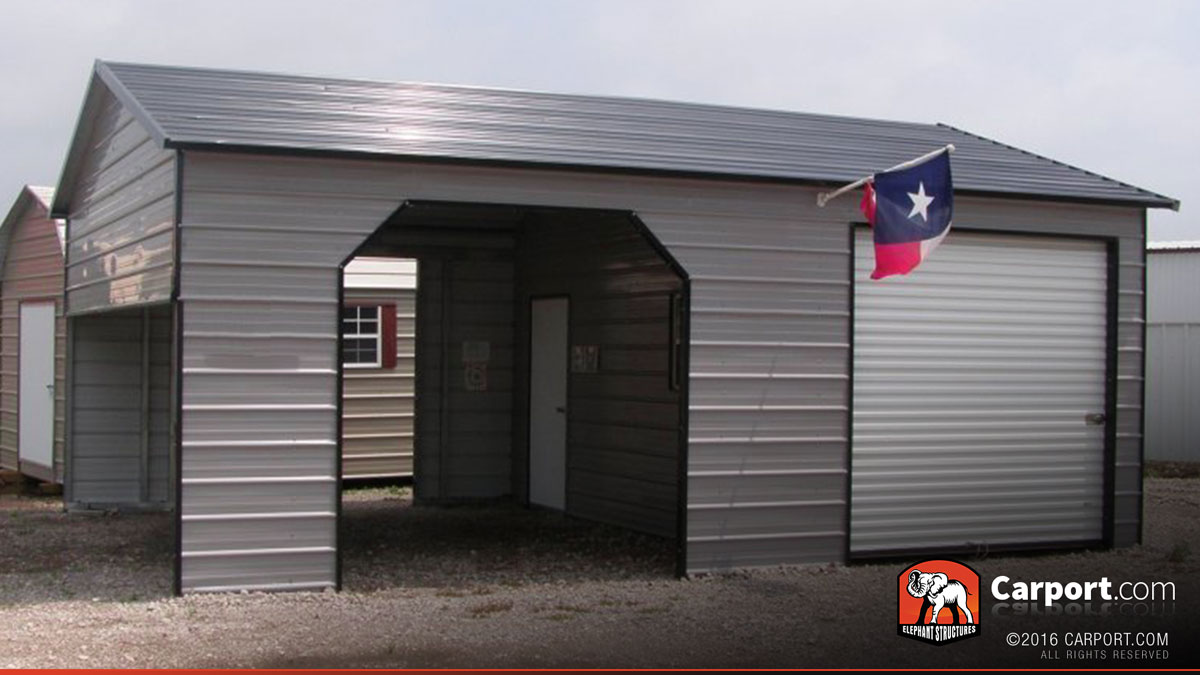 Metal Garage With Storage Area 22 X 31 Shop Metal Buildings