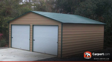 31418 Cp1 24x26 Metal Garage Building For Two Cars