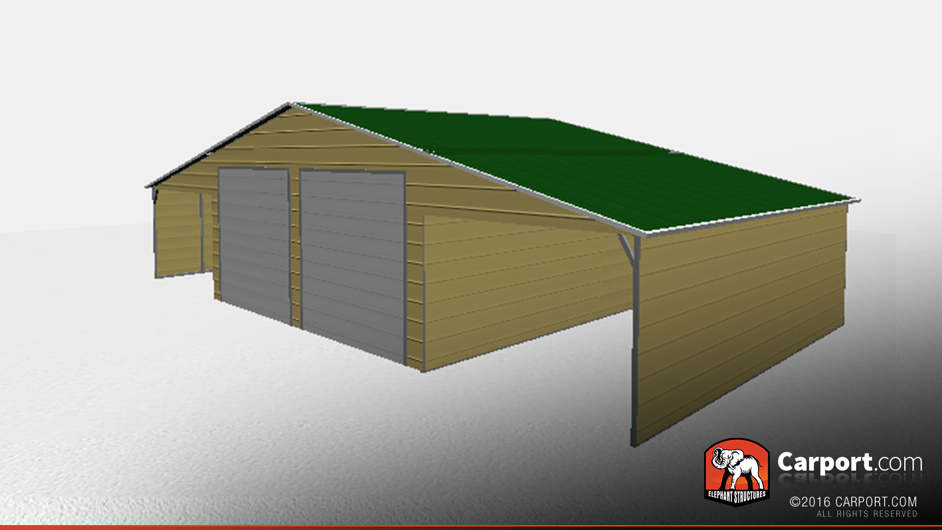 46 X 26 Vertical Roof Storage Building With Lean Tos Storage Buildings