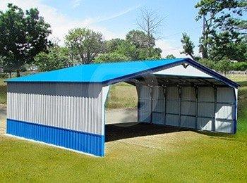 Metal Carports  Custom Garage Buildings RV Carport Metal Barns