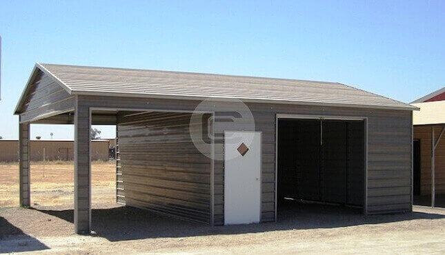 24x36 Detached Metal Garage 2 Car Garage Price