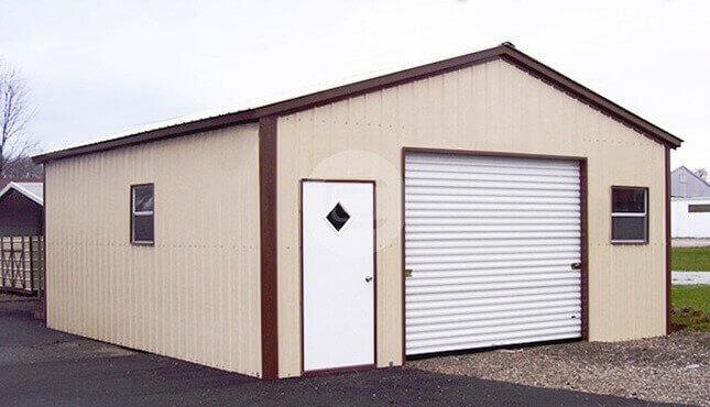 18x21 Boxed Eave Metal Garage Building A Frame Standard Steel Garage