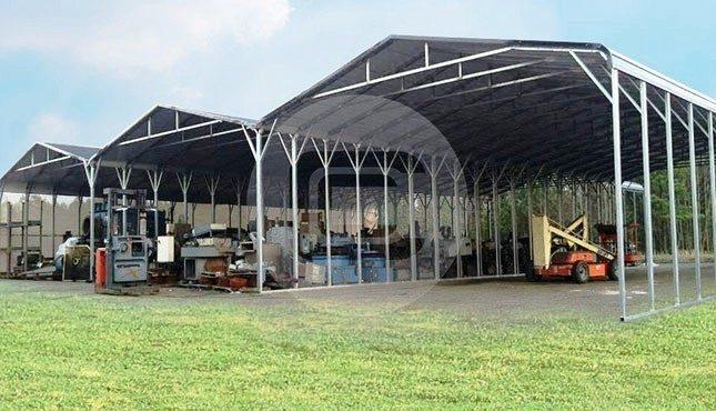 78x80 Custom Built RV Carport Regular Roof Steel Carport