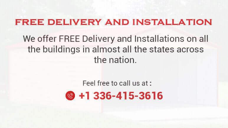 12 X 21 Regular Roof Metal GarageLowest Buy Online