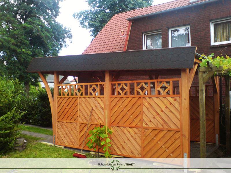 carport aus holz projekte10 006 carports aus polen. Black Bedroom Furniture Sets. Home Design Ideas