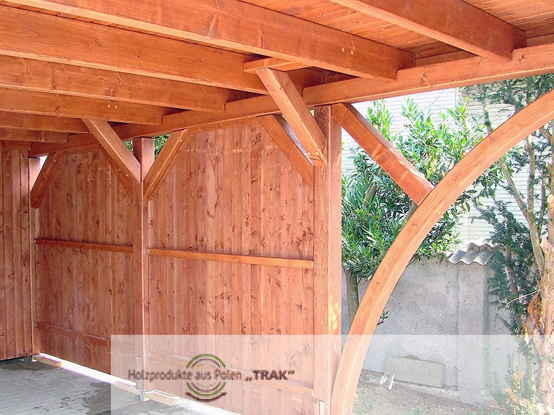 carport aus holz projekte11 007 carports aus polen. Black Bedroom Furniture Sets. Home Design Ideas