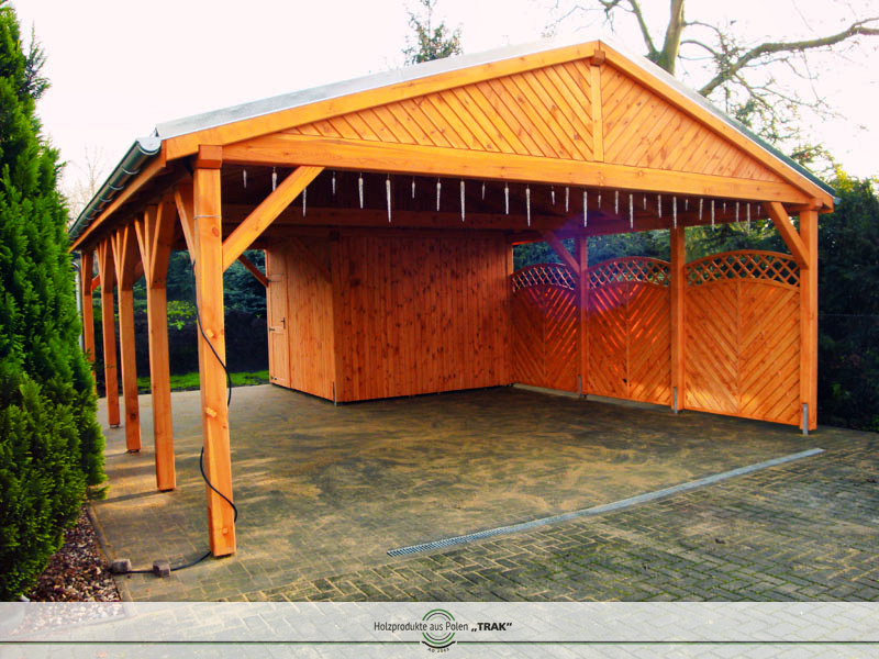 carport aus holz projekte5 002 carports aus polen. Black Bedroom Furniture Sets. Home Design Ideas