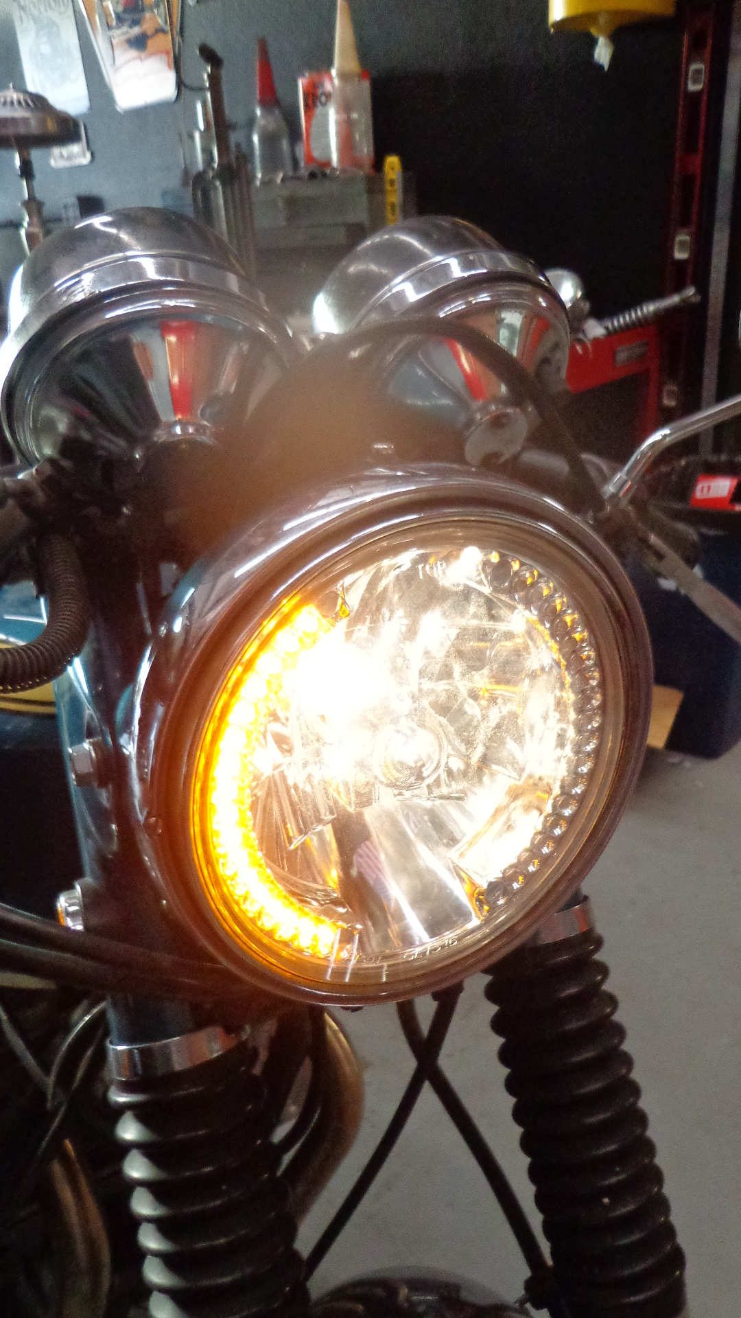 Custom Victory Kingpin Wiring Harness 7 Headlight With L E D Turn Signals Carpy S Cafe Racers