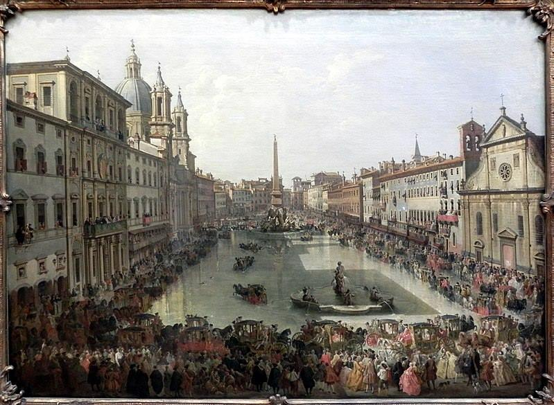 Old Piazza Navona Painting