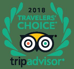 Certified by Tripadvisor Travelers' Choice