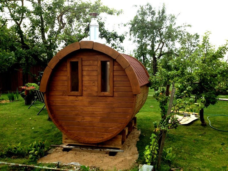 3.5m Pine Barrel Sauna 2.27m diameter