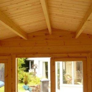 Mason Log Cabin Interior Roof