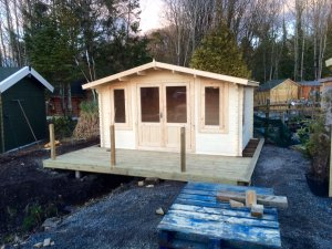 Norwood 4.2m Crossley Log Cabin at Carrbank Garden Centre