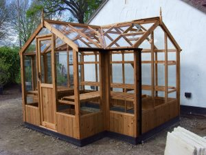 "Swallow Cygnet Timber Greenhouse 6'8"" x 11'5"""