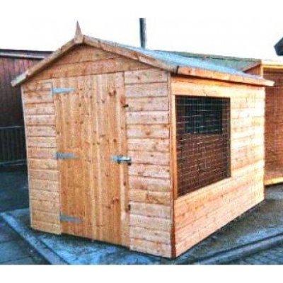 Dog Kennel Run apex shed