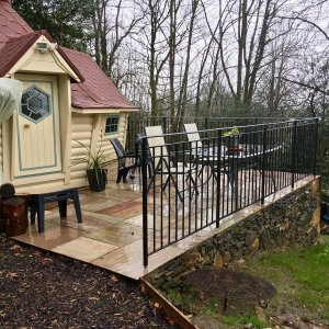 10m Sloping Cabin with extension & Base Works Bowness