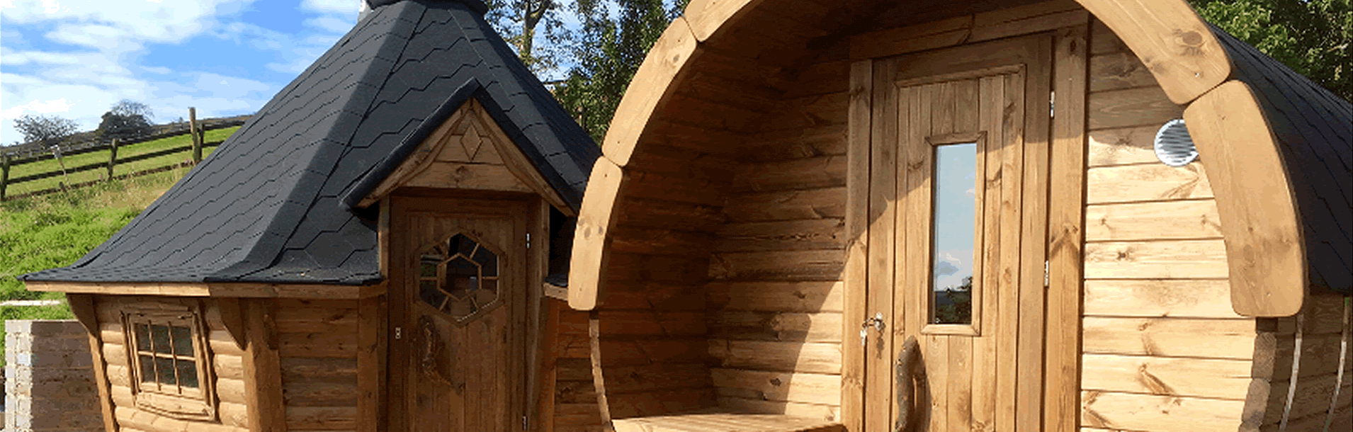 Barbecue Cabin & Barrel Sauna from Carr Bank Garden Centre