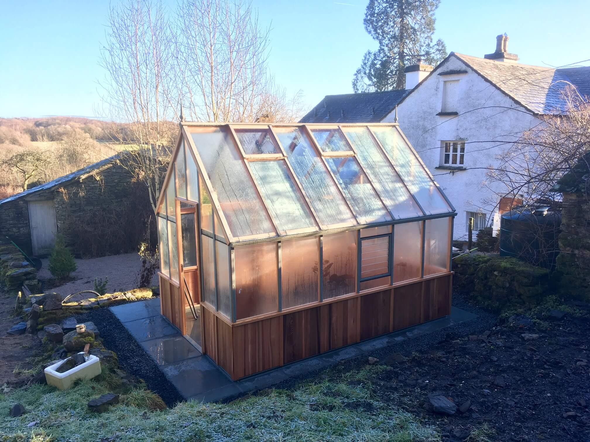 Slate Patio & Alton Victorian Red Cedar Greenhouse
