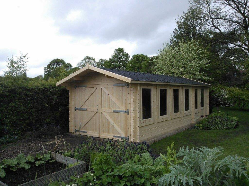 Crossley Custom Built Garden Workshop Log Cabin