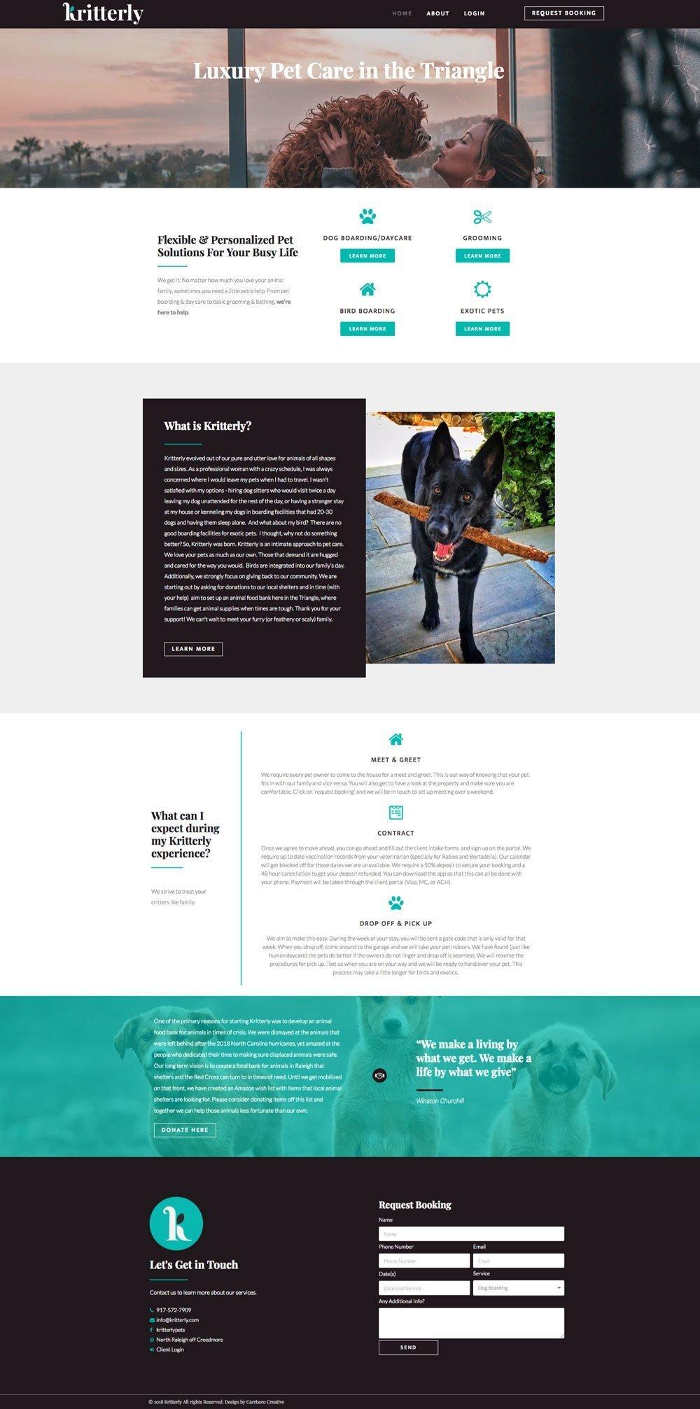 Kritterly-Website-Screenshot