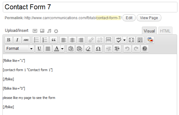 How To Use Contact Form 7 with Facebook Tab Manager | Carr