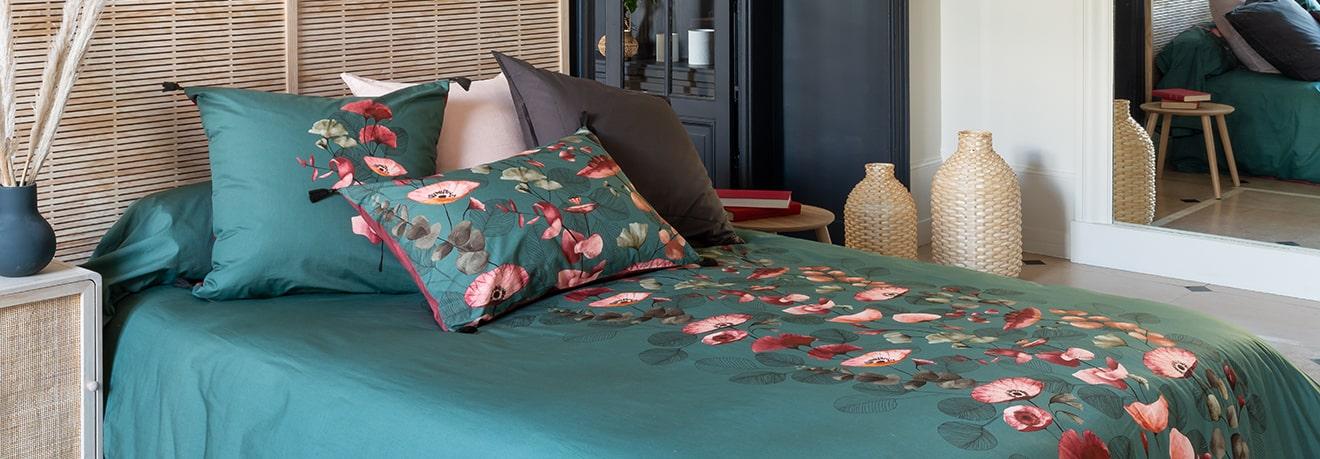 parures de lit fantaisies en lin