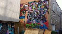 Fresque derrière la Boutique du Skate