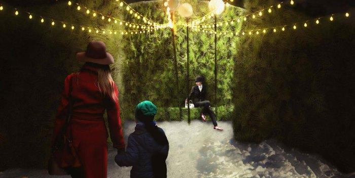 Une place publique hivernale dans St-Jean-Baptiste