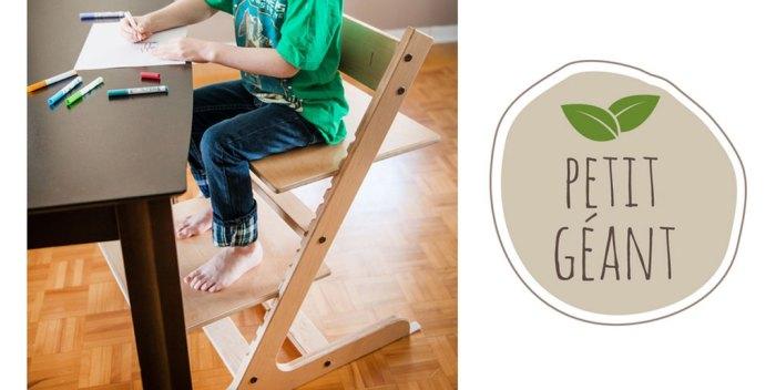Petit géant: Une chaise évolutive 100% Québec