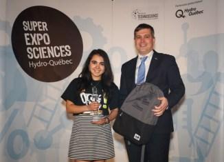 Super Expo-Sciences: Victoria Chouinard lauréate