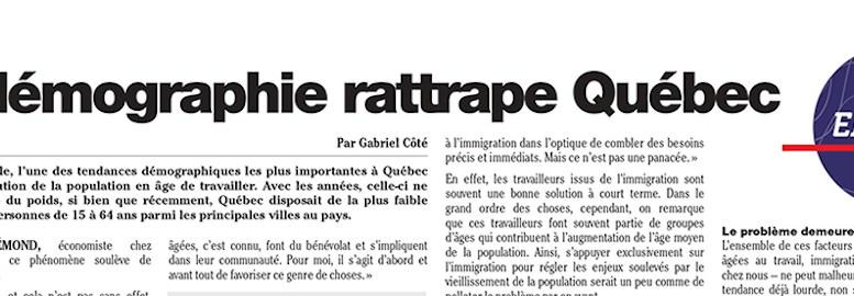 La démographie rattrape Québec
