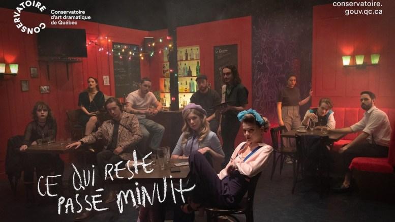 Affiche de la websérie du Conservatoire d'art dramatique du Québec