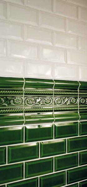 Carrelages Mosaques et Galets Metro  Metro Negro Craquel 75x15 cm carrelage metro faence
