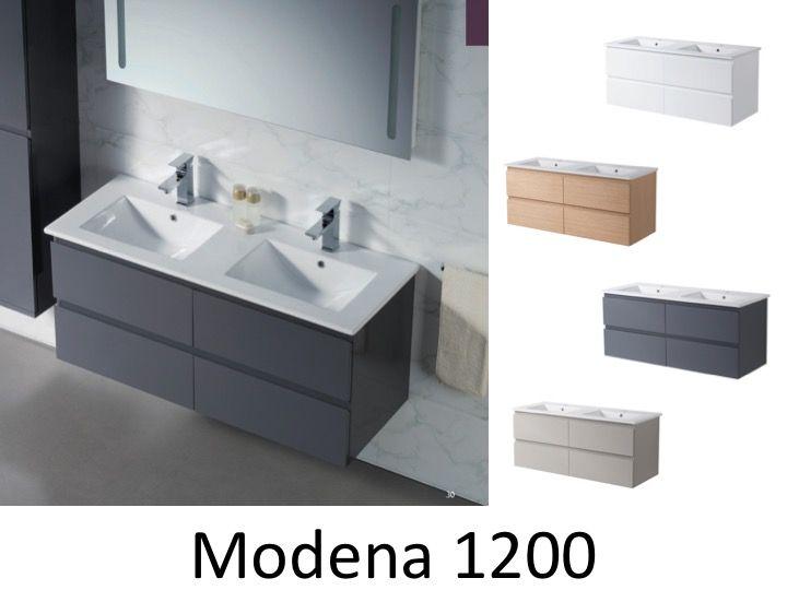De Bain Cm Double Vasque Modena Meubles
